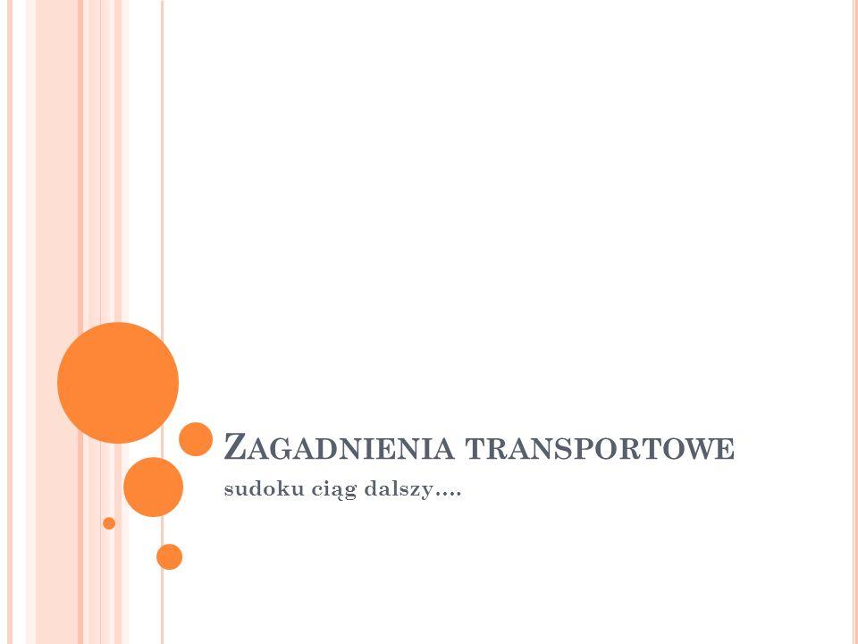 Zagadnienia transportowe