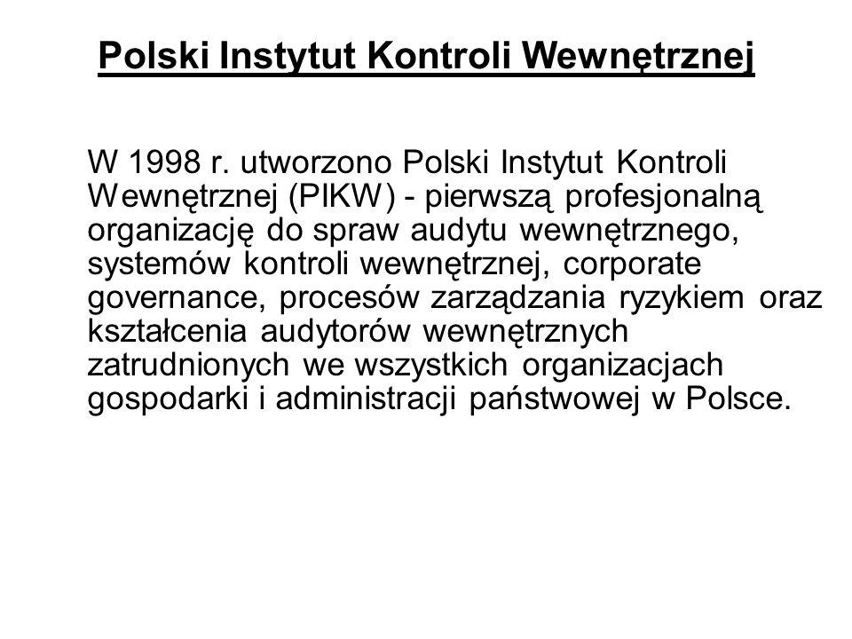 Polski Instytut Kontroli Wewnętrznej