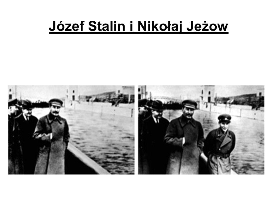 Józef Stalin i Nikołaj Jeżow