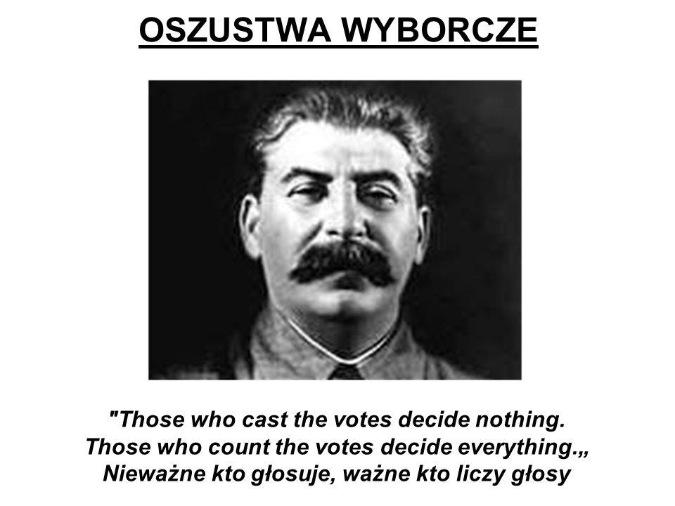 Nieważne kto głosuje, ważne kto liczy głosy
