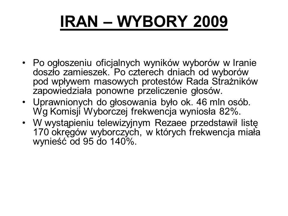 IRAN – WYBORY 2009