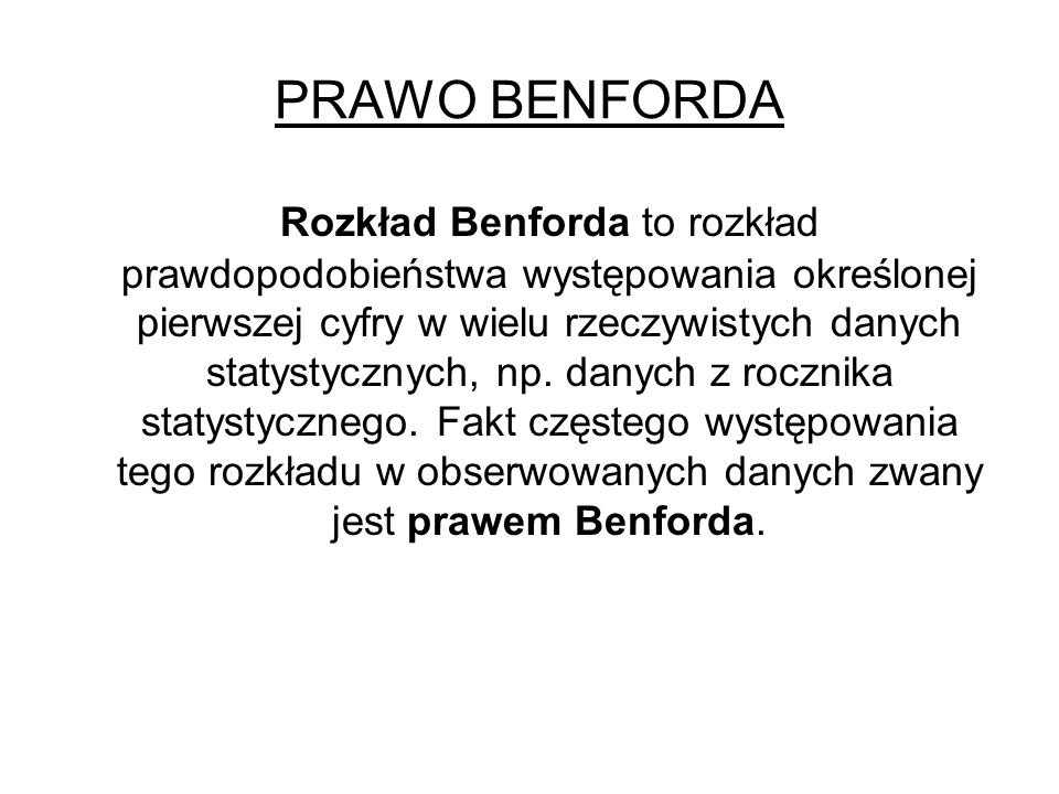 PRAWO BENFORDA