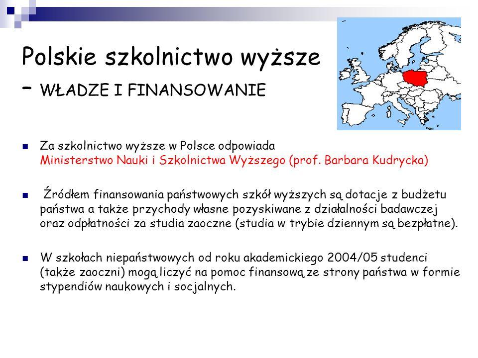 Polskie szkolnictwo wyższe – WŁADZE I FINANSOWANIE