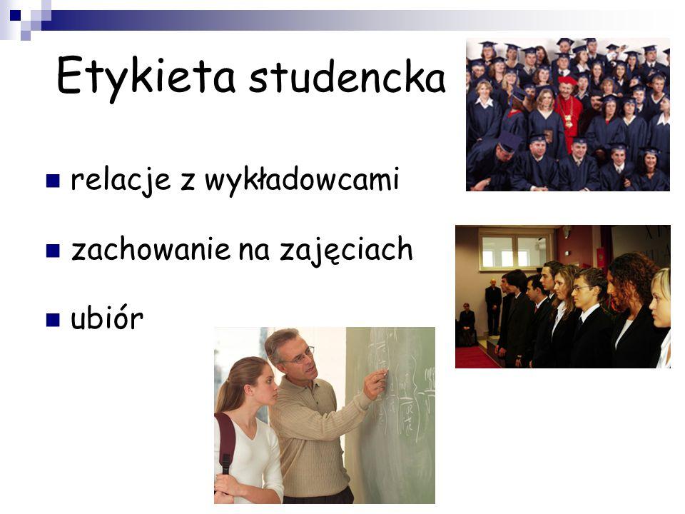 Etykieta studencka relacje z wykładowcami zachowanie na zajęciach
