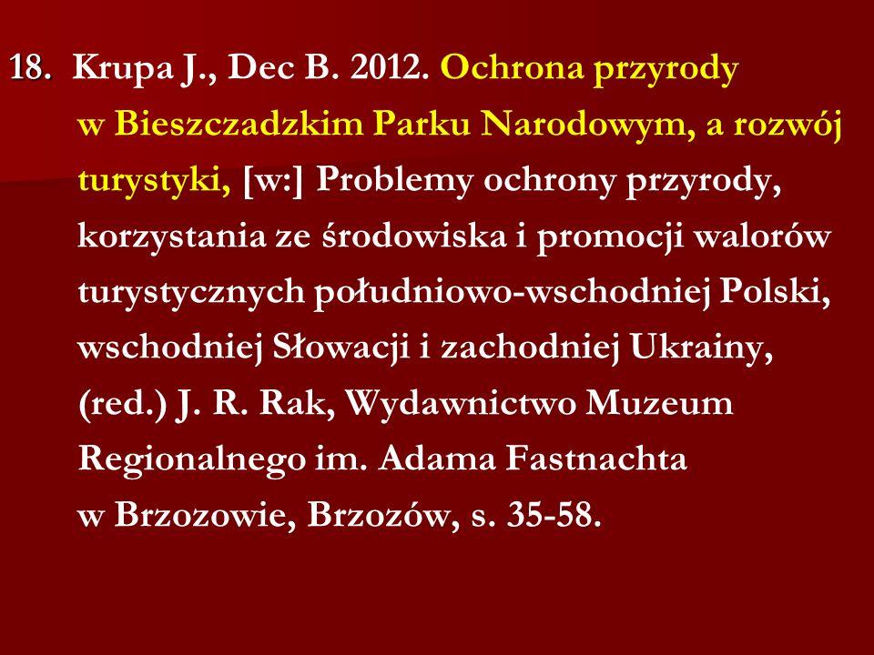 18. Krupa J., Dec B. 2012.