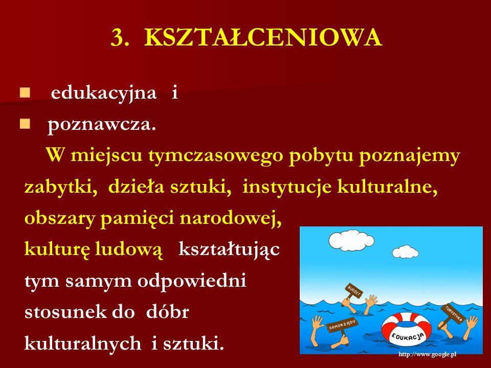 3. KSZTAŁCENIOWA edukacyjna i poznawcza.