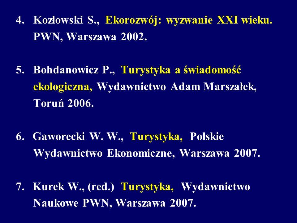 4. Kozłowski S., Ekorozwój: wyzwanie XXI wieku.