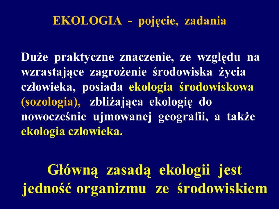 EKOLOGIA - pojęcie, zadania
