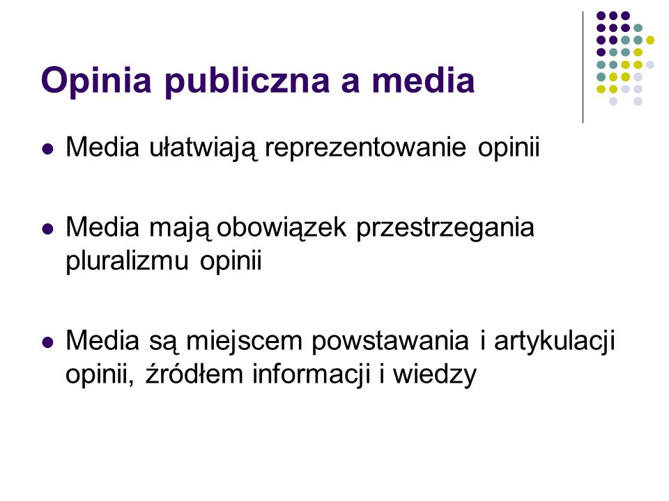 Opinia publiczna a media