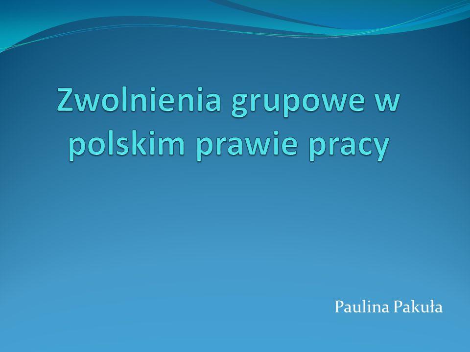 Zwolnienia grupowe w polskim prawie pracy