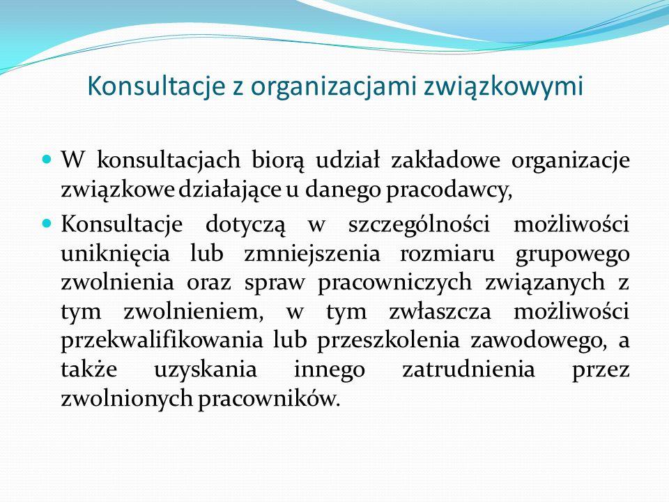 Konsultacje z organizacjami związkowymi