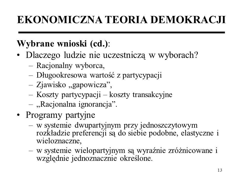 EKONOMICZNA TEORIA DEMOKRACJI