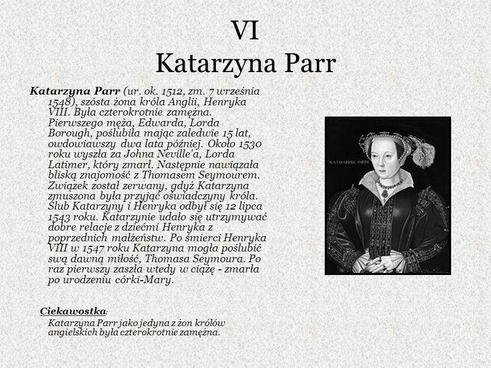 VI Katarzyna Parr