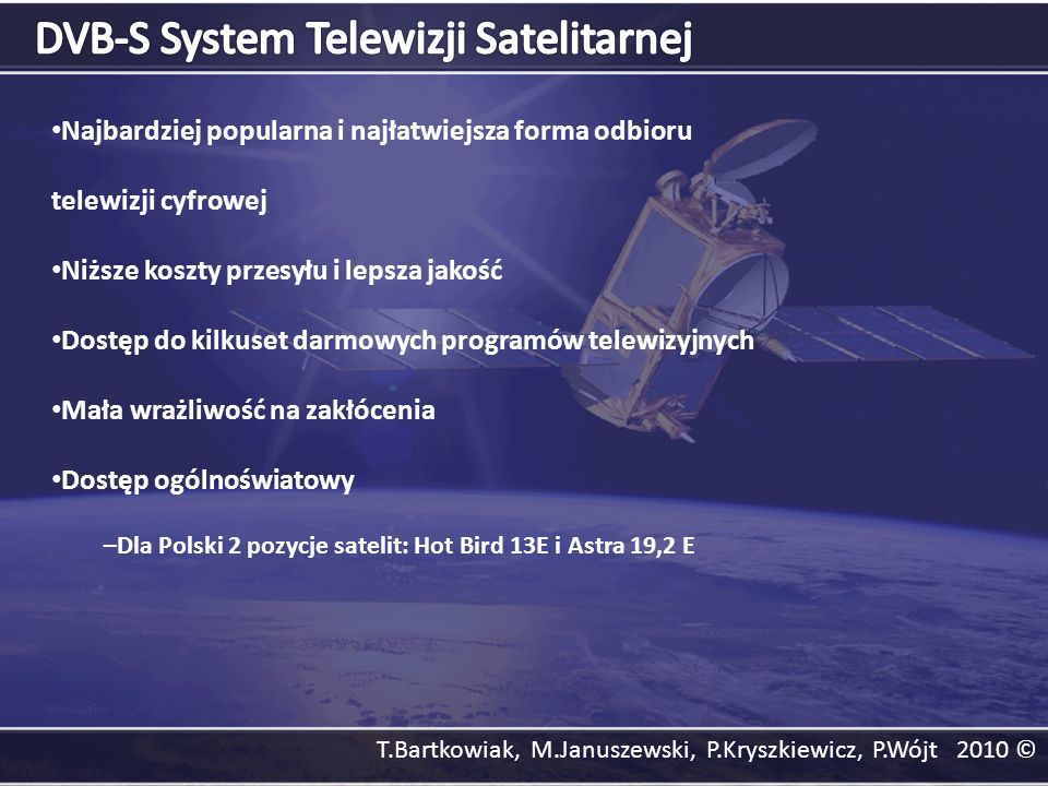 DVB-S System Telewizji Satelitarnej