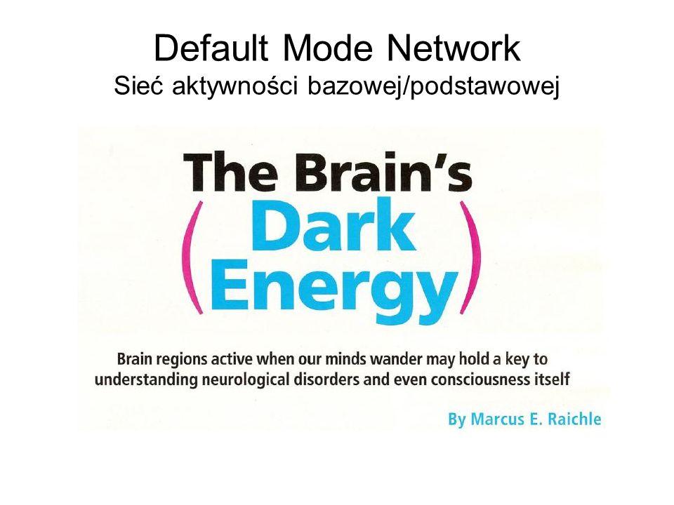 Default Mode Network Sieć aktywności bazowej/podstawowej