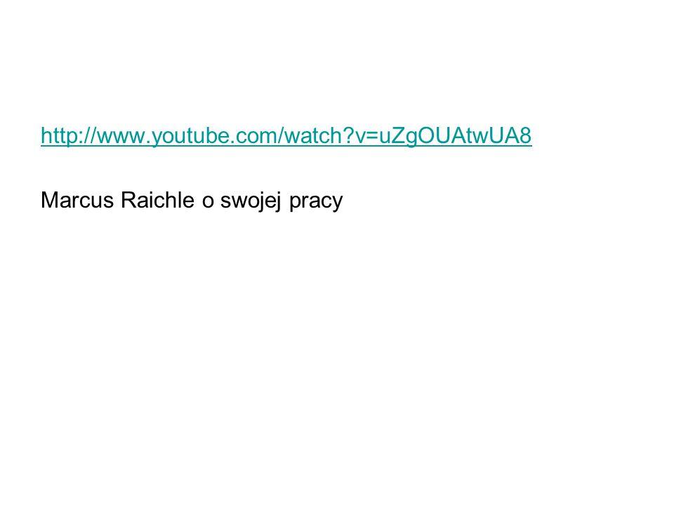http://www.youtube.com/watch v=uZgOUAtwUA8 Marcus Raichle o swojej pracy