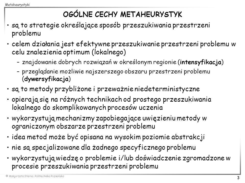 OGÓLNE CECHY METAHEURYSTYK