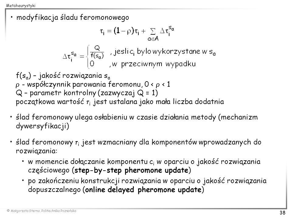 modyfikacja śladu feromonowego