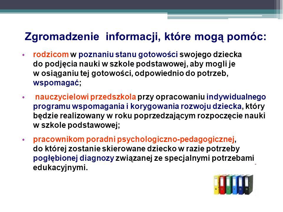 Zgromadzenie informacji, które mogą pomóc: