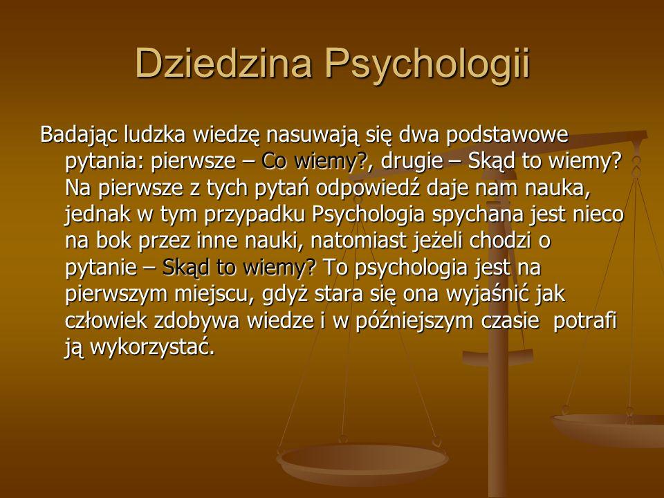 Dziedzina Psychologii