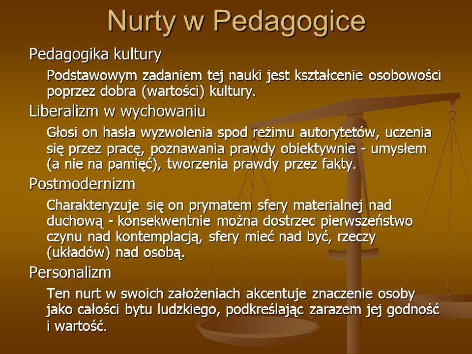 Nurty w Pedagogice Pedagogika kultury