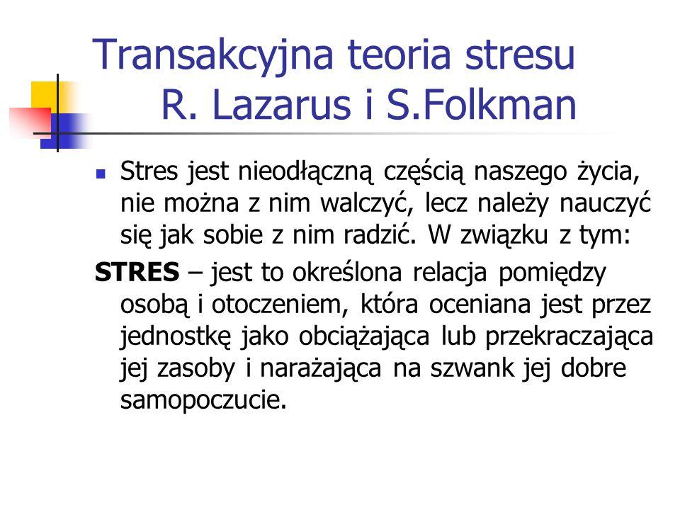 Transakcyjna teoria stresu R. Lazarus i S.Folkman