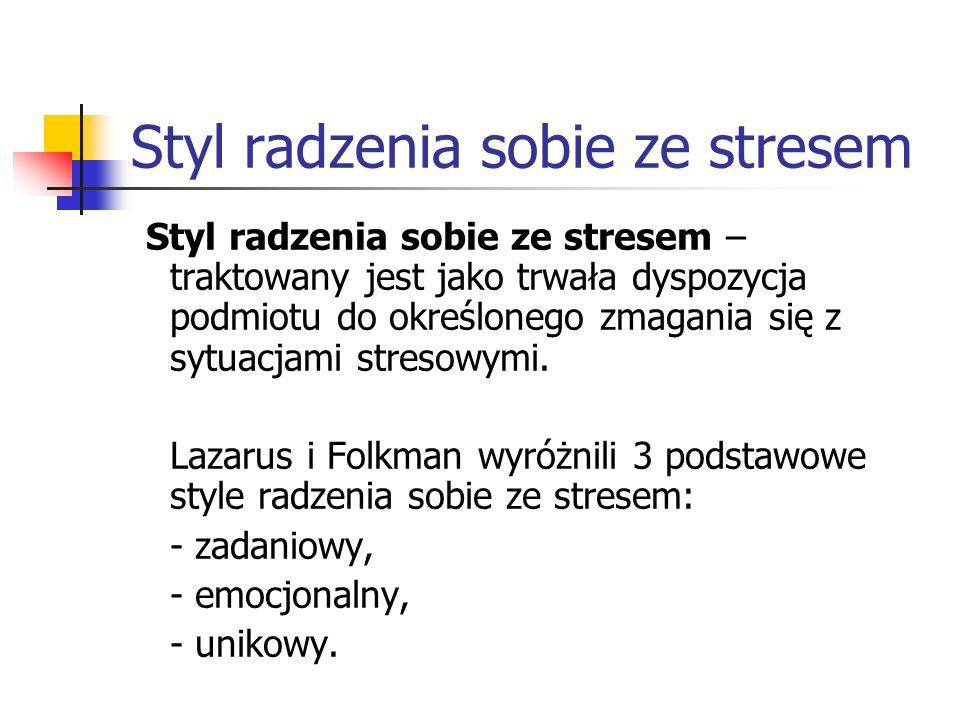 Styl radzenia sobie ze stresem