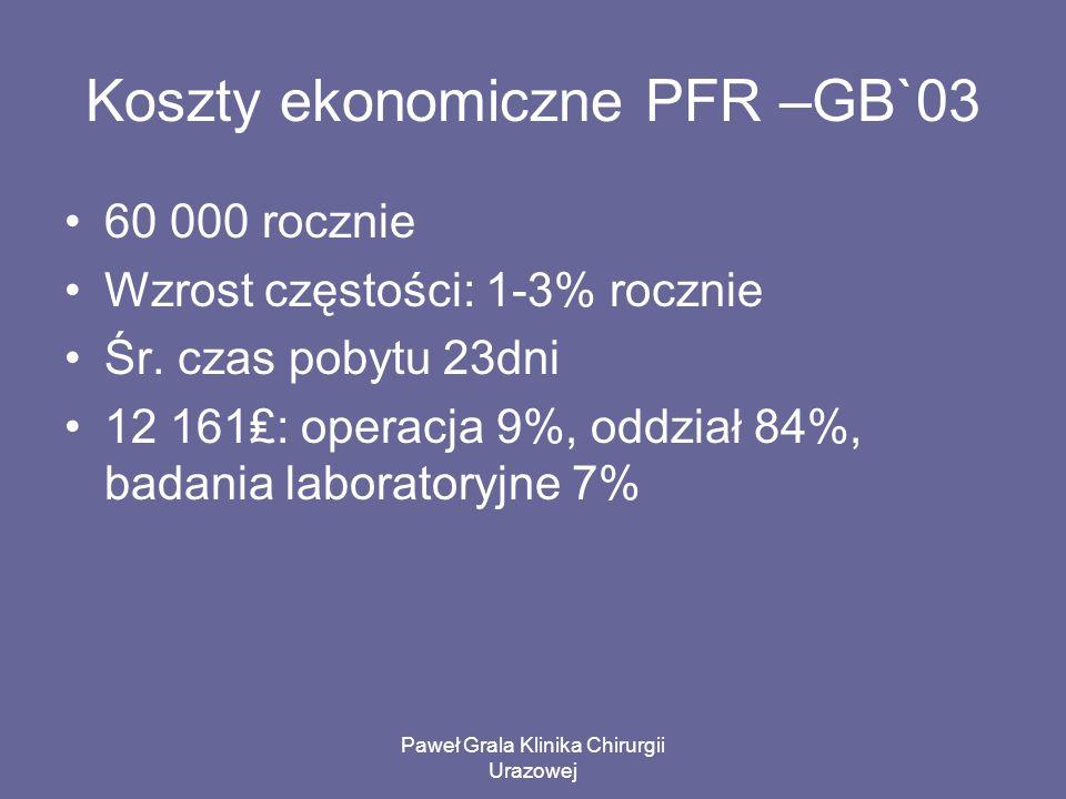 Koszty ekonomiczne PFR –GB`03