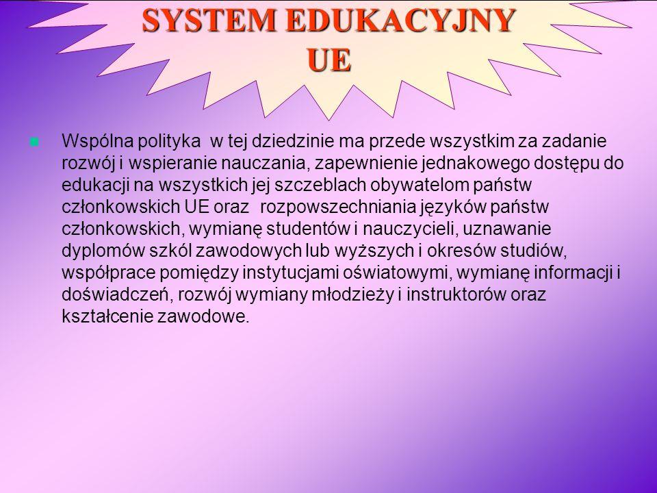 SYSTEM EDUKACYJNY UE