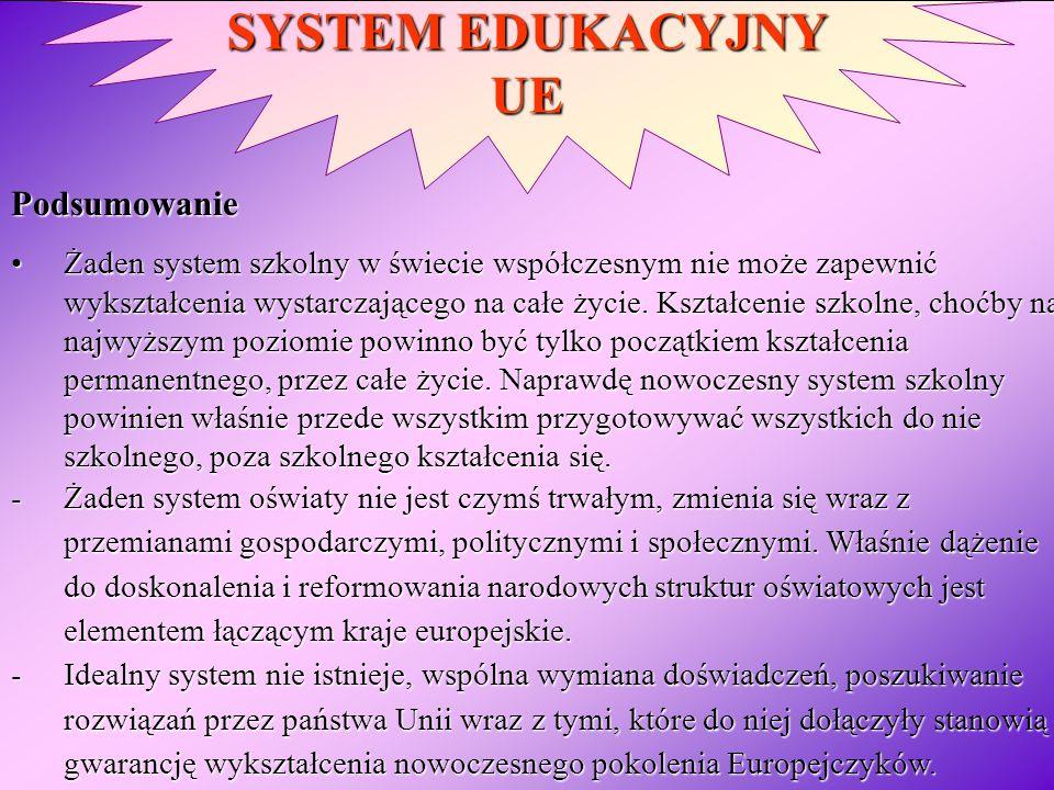 SYSTEM EDUKACYJNY UE Podsumowanie