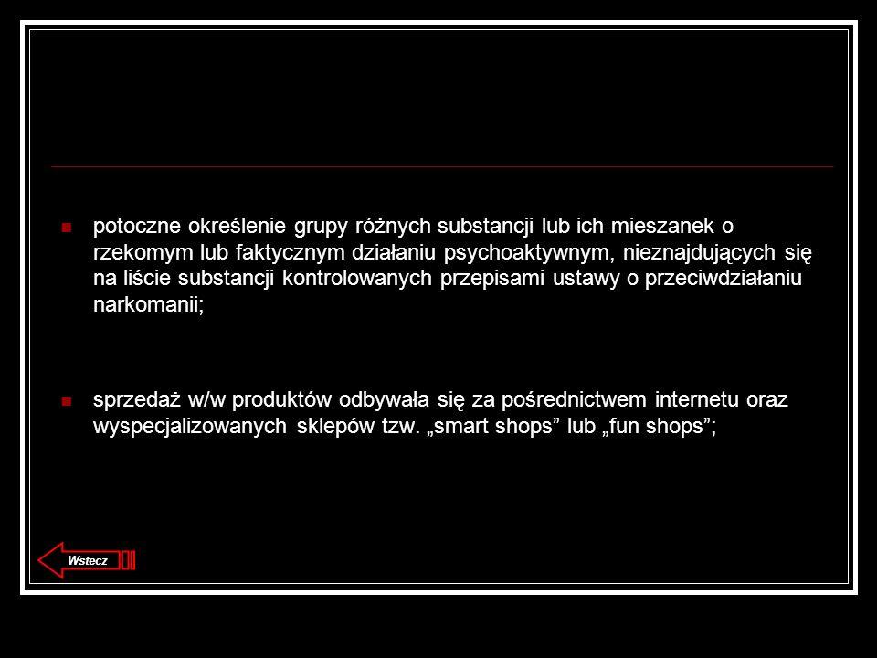 potoczne określenie grupy różnych substancji lub ich mieszanek o rzekomym lub faktycznym działaniu psychoaktywnym, nieznajdujących się na liście substancji kontrolowanych przepisami ustawy o przeciwdziałaniu narkomanii;