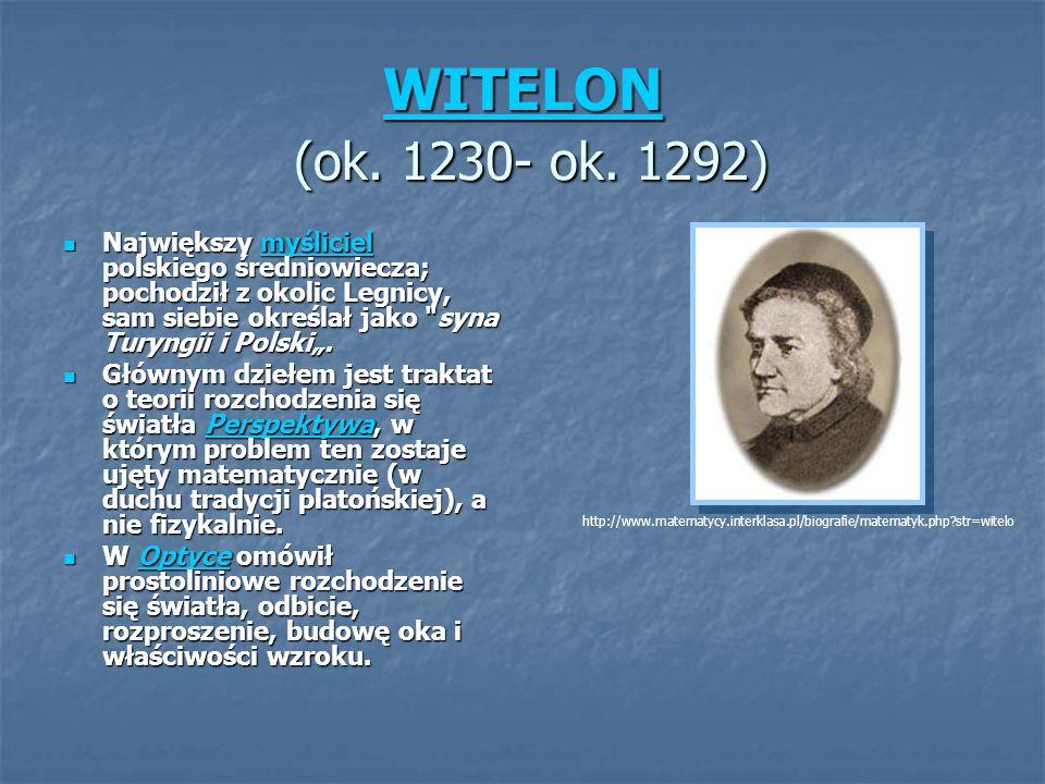 WITELON (ok. 1230- ok. 1292)