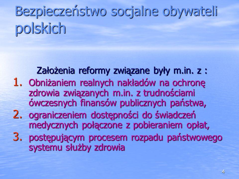 Bezpieczeństwo socjalne obywateli polskich