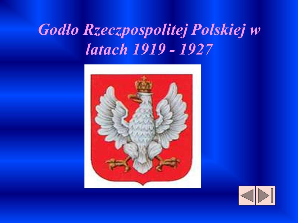 Godło Rzeczpospolitej Polskiej w latach 1919 - 1927