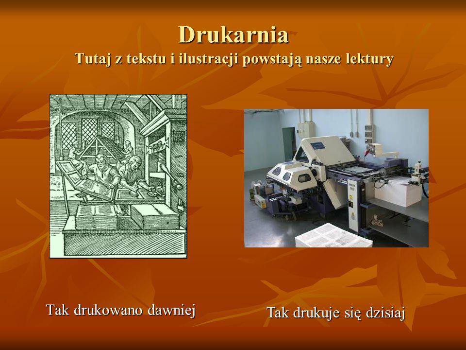 Drukarnia Tutaj z tekstu i ilustracji powstają nasze lektury