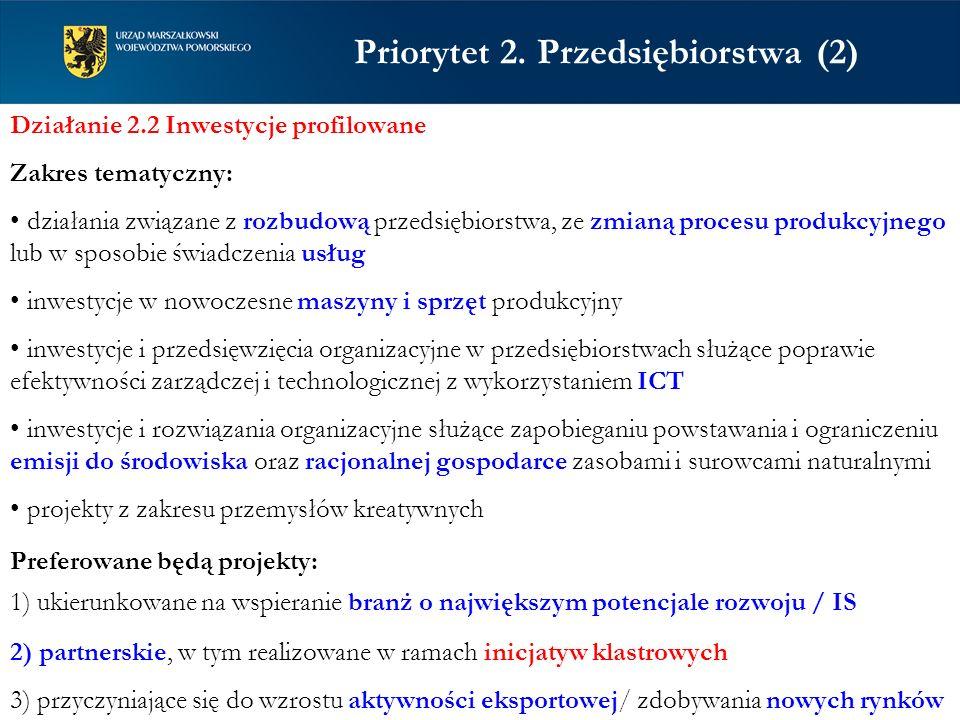 Priorytet 2. Przedsiębiorstwa (2)