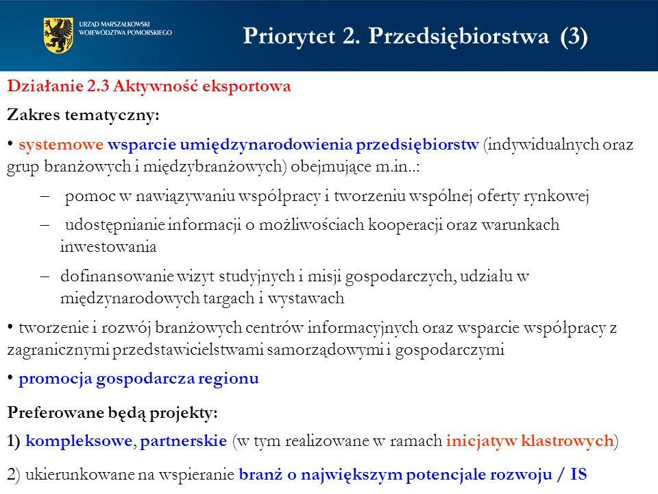 Priorytet 2. Przedsiębiorstwa (3)