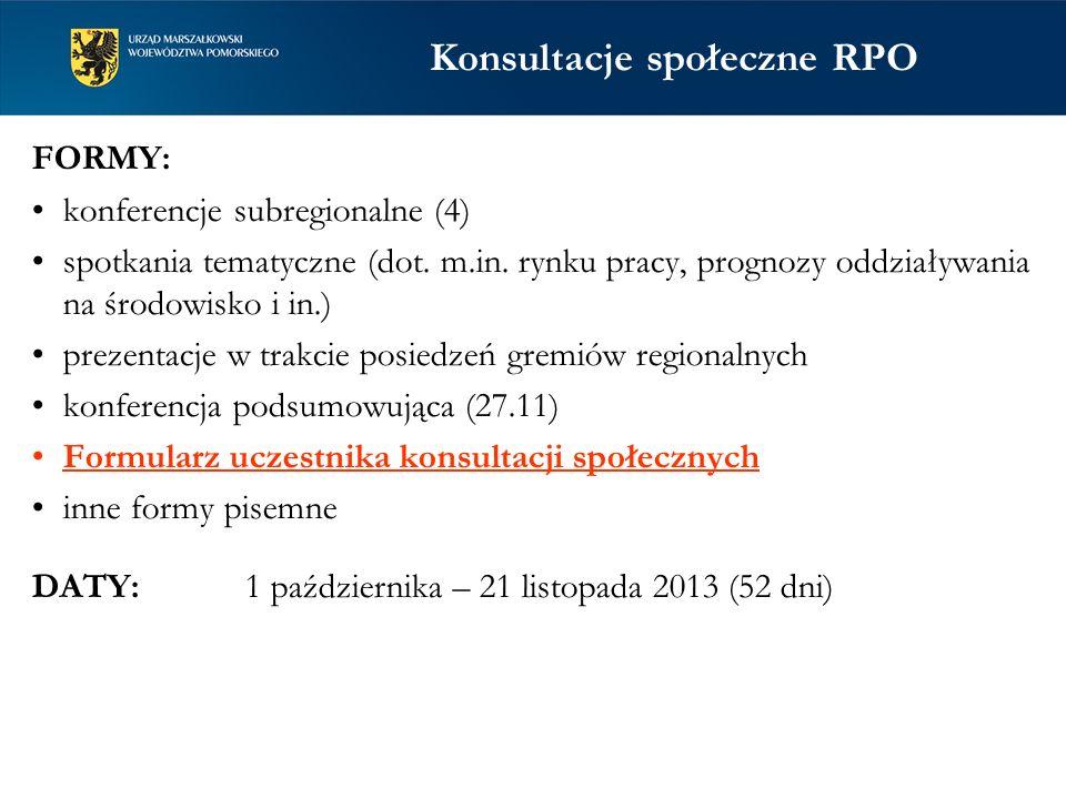 Konsultacje społeczne RPO