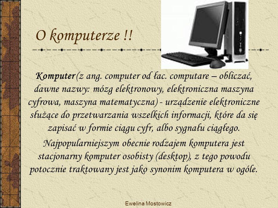 O komputerze !!