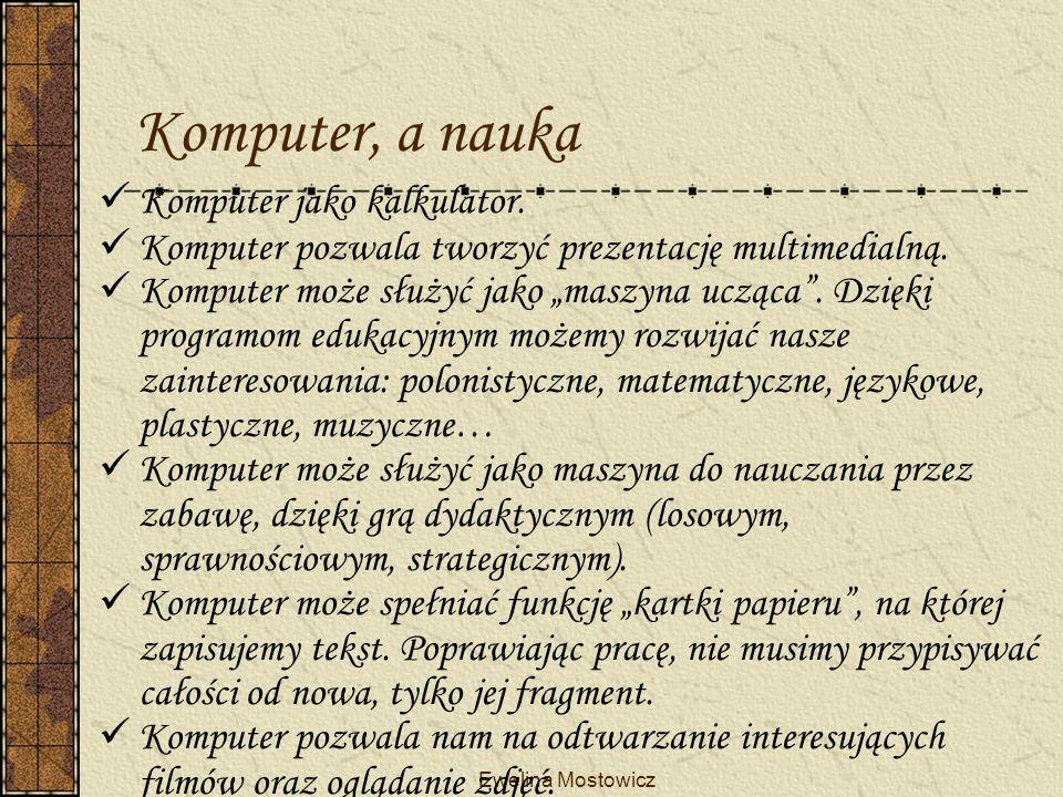 Komputer, a nauka Komputer jako kalkulator.