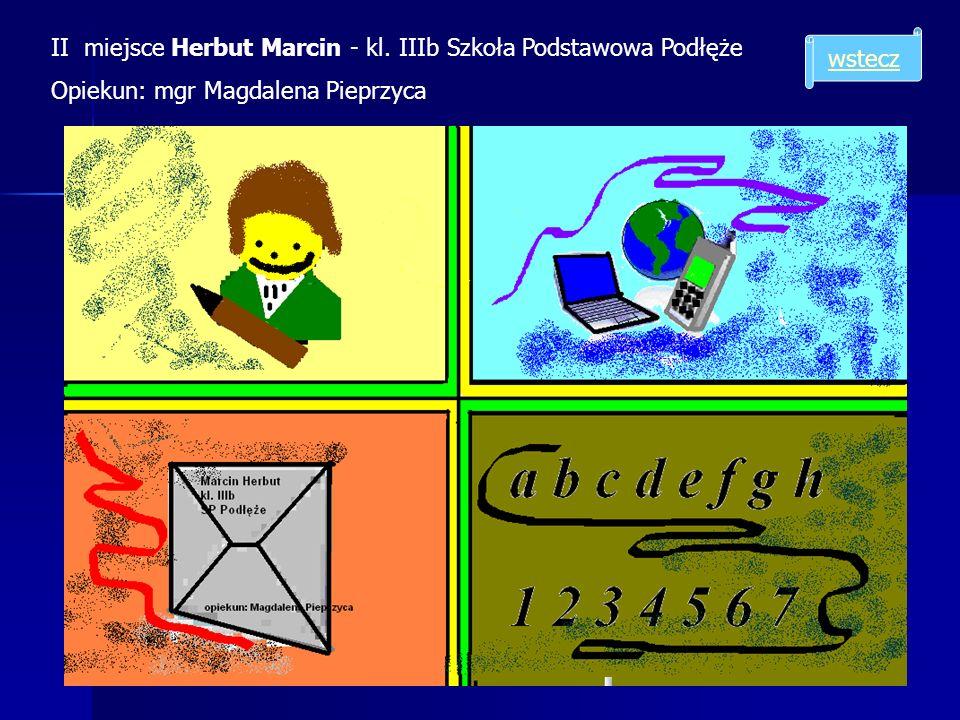 II miejsce Herbut Marcin - kl. IIIb Szkoła Podstawowa Podłęże