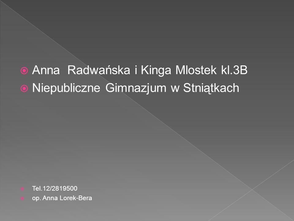 Anna Radwańska i Kinga Mlostek kl.3B