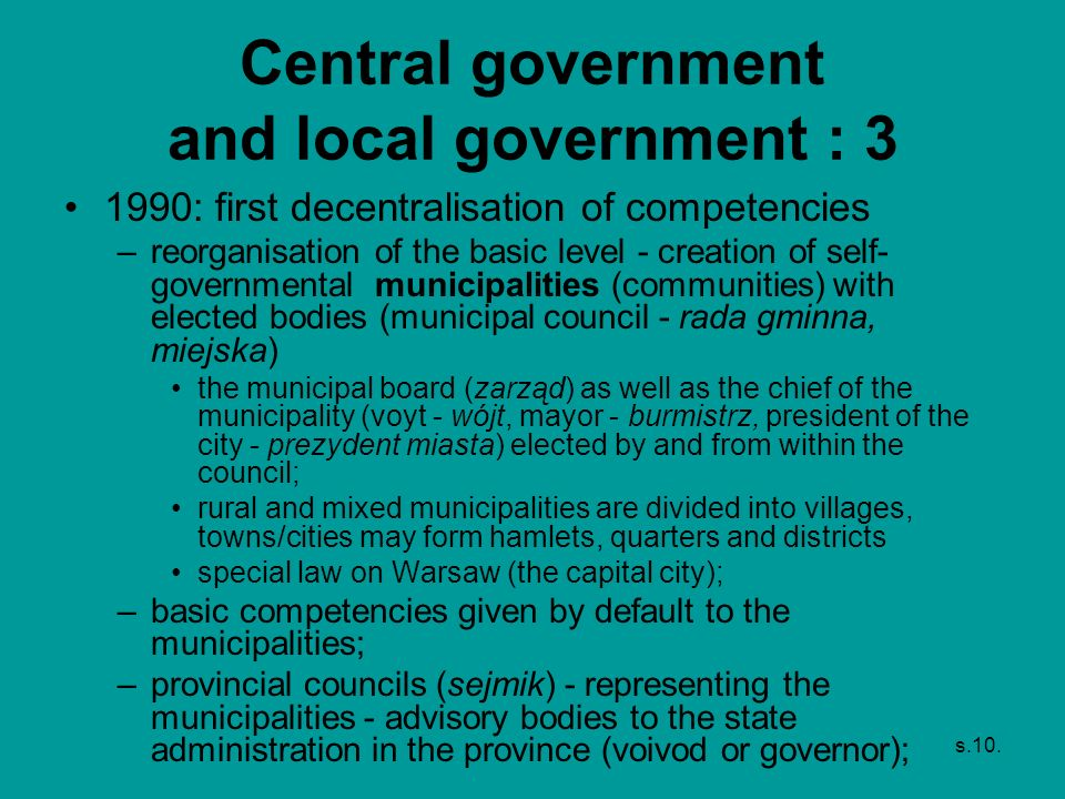 Central government and local government : 3