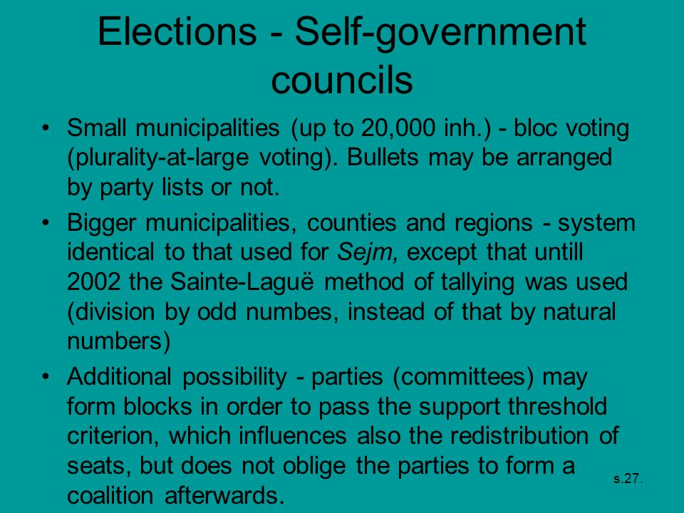 Elections - Self-government councils