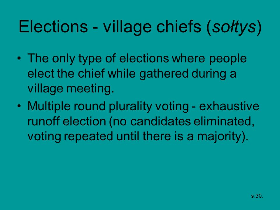 Elections - village chiefs (sołtys)