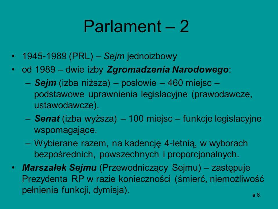 Parlament – 2 1945-1989 (PRL) – Sejm jednoizbowy