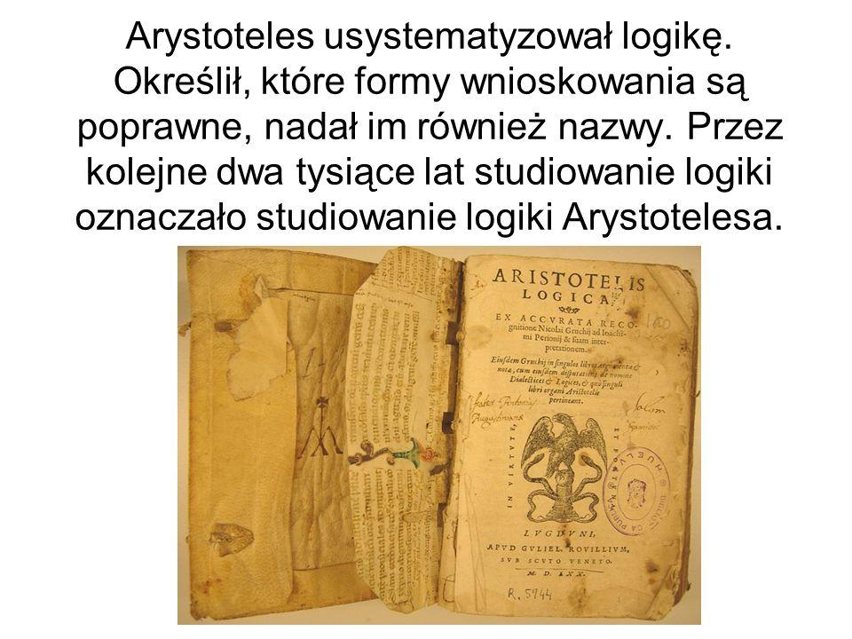Arystoteles usystematyzował logikę