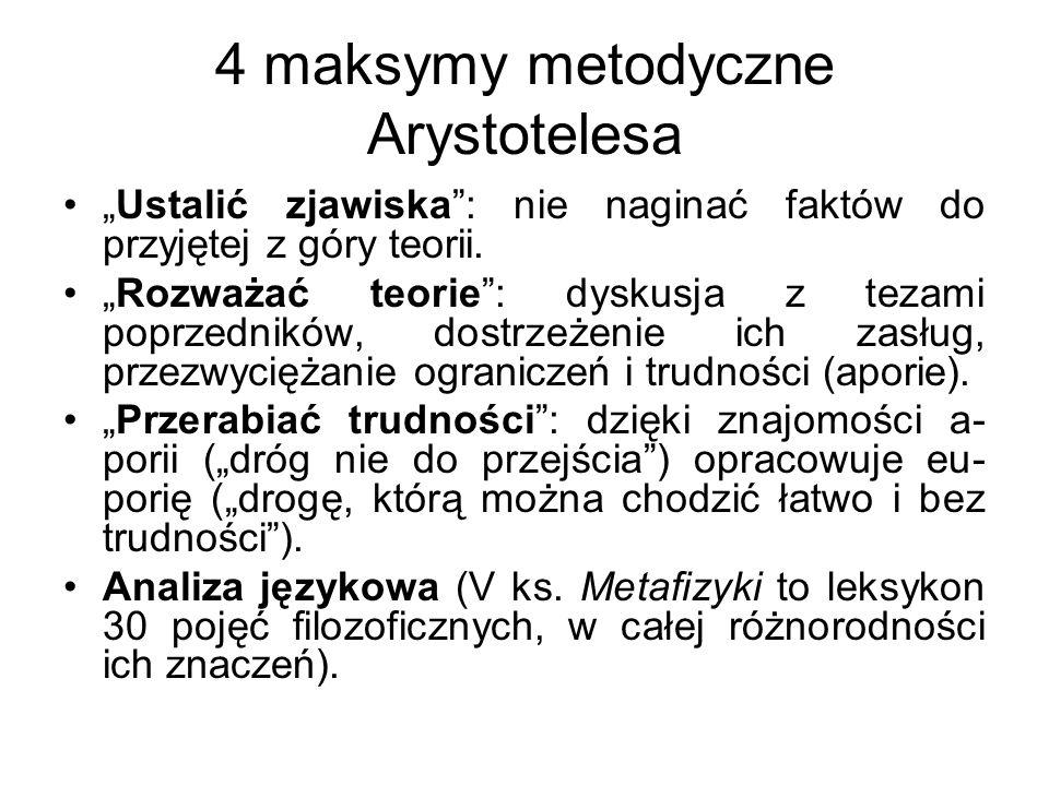 4 maksymy metodyczne Arystotelesa