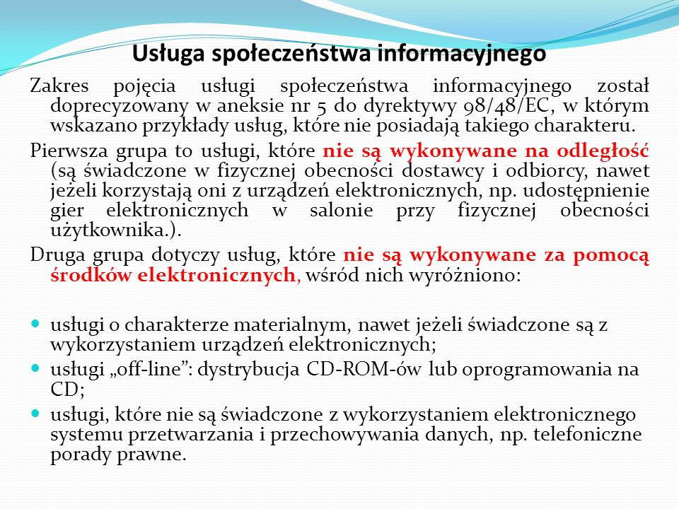Usługa społeczeństwa informacyjnego