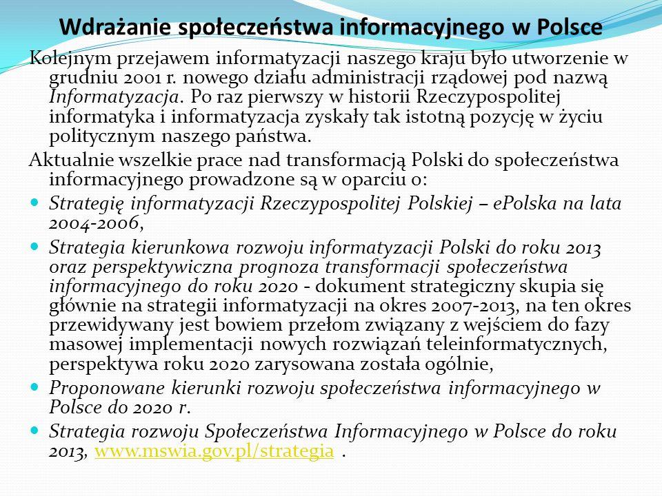 Wdrażanie społeczeństwa informacyjnego w Polsce